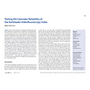 Testing the Interrater Reliability of the Karlsbader Videofluoroscopy Index - Dysphagieforum Ausgabe 2/2012