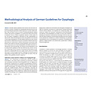 Methodological Analysis of German Guidelines for Dysphagia - Dysphagieforum Ausgabe 2/2012