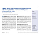 The New Zealand Index for the Multidisciplinary Evaluation of Swallowing (NZIMES) - Inter-Rater reliability of the translated German version - Dysphagieforum Ausgabe 2/2013