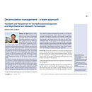Decannulation management – a team approach - Standards und Perspektiven im Trachealkanülenmanagement und Möglichkeiten von Telehealth-Technologien - Dysphagieforum Ausgabe 1/2014