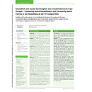 Gesundheit und soziale Gerechtigkeit: eine sozialmedizinische Ergotherapie - Community Based Rehabilitation and Community Based Practice in der Ausbildung an der FH Campus Wien - ergoscience 2012, 7(1): 28-34